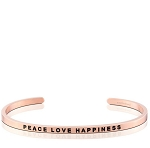 Peace Love Happiness Rose Gold