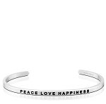 Peace Love Happiness Silver