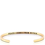 Peace Comes From Within Gold