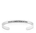 Mens Peace Comes From Within Silver