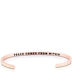 Peace Comes From Within Rose Gold