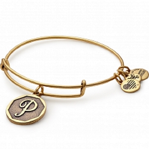 Initial P Bangle Rafaelian Gold