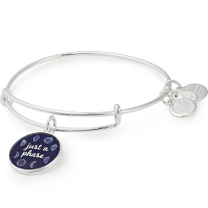 Just a Phase Color Infusion Charm Bangle Silver
