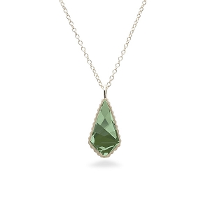 Sloane Sterling Necklace in Emerald Green