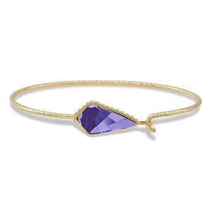 Sloane Sterling Bracelet Tanzanite 18KT Gold Plated 7.5