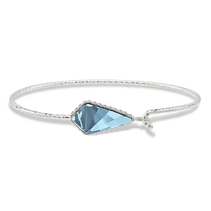 Sloane Sterling Bracelet in Aqua 7.0