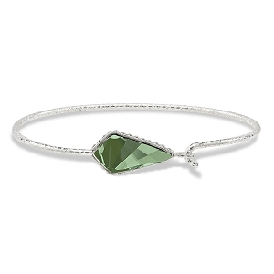 Sloane Sterling Bracelet in Emerald Green 7.0