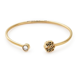 Path Of Life Cuff 14KT Gold Bangle