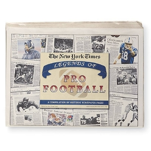 Legends of Pro Football History Historic Newspaper Compilation