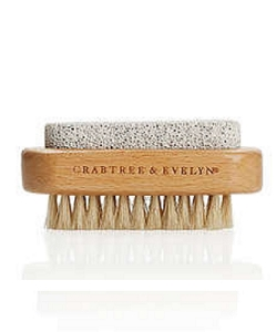 Natural Wood Nail Brush And Pumice