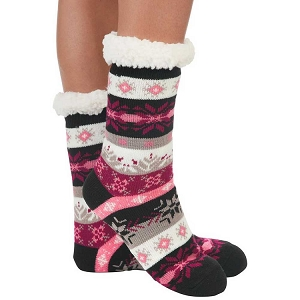 Cozy Sherpa Nordic 2 Sock Pink