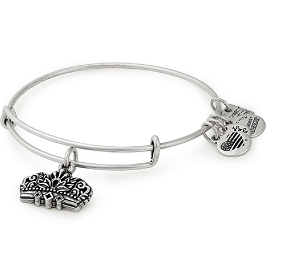 Queen's Crown Charm Bangle Silver
