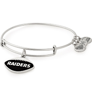 Oakland Raiders Football Color Infusion Charm Bangle Silver