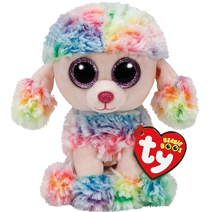 Beanie Boo Rainbow Poodle Dog Plush