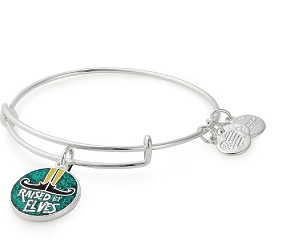 Raised By Elves Charm Bangle Silver
