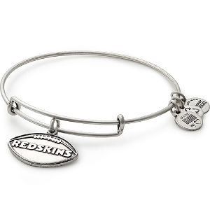 Washington Redskins Football Charm Bangle Silver