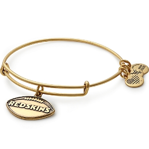 Washington Redskins Football Charm Bangle Gold