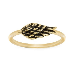 Angel Wing Ring 18kt Gold Plated Size 8