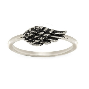 Angel Wing Ring Silver 6