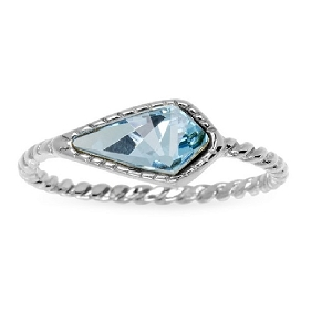 Sloane Ring in Aqua Size 6