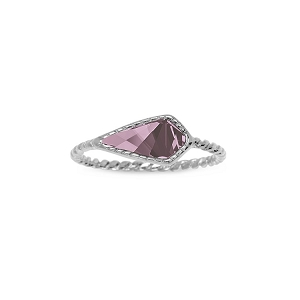 Sloane Ring in Antique Pink Silver Size 8