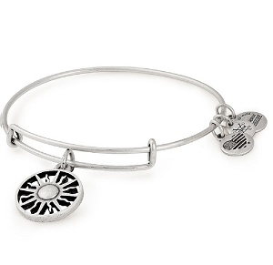 Rising Sun Charm Bangle Rafaelian Silver