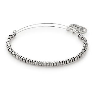 Rocker Beaded Bangle Rafaelian Silver
