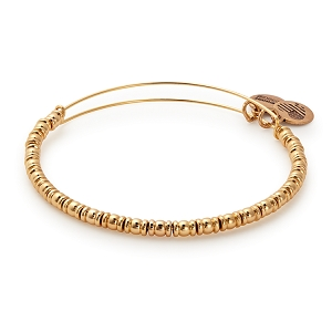 Rocker Beaded Bangle Shiny Gold