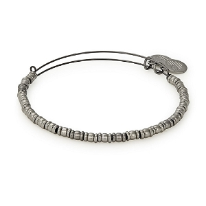 Rocker Beaded Bangle Midnight Silver