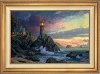 Thomas Kinkade Rock Of Salvation 18 x 27 Canvas Framed