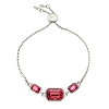 Dylan Slider Bracelet in Scarlet Red Silver Plated