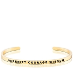 Serenity Courage Wisdom Gold