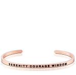 Serenity Courage Wisdom Rose Gold