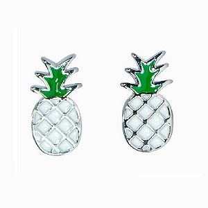 Pineapple Stud Earring Silver