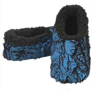 Gilded Metallic Butter Fur Blue Large 9-10