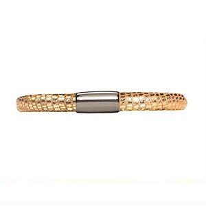 Endless Jennifer Lopez Leather Bracelet Single Golden Reptile 7.5