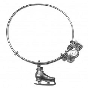 Team USA Ice Skate Charm Bangle Rafaelian Silver