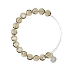 Luxe Bead Bangle Single Smoke Yellow Gold