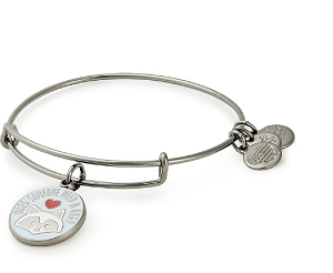 Does Someone Need A Hug Charm Bangle Midnight Silver