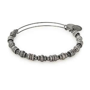 Spellbound Beaded Bangle Midnight Silver