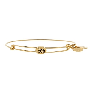 Sacred Studs Expandable Om Bangle Gold