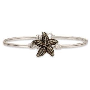 Starfish Silver Bangle Bracelet 7.0