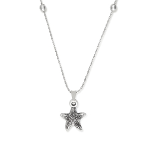 Starfish Expandable Necklace Silver