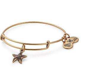 Starfish Charm Bangle Gold