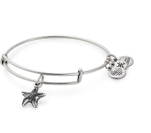 Starfish Charm Bangle Silver