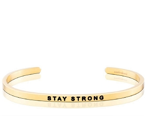 Stay Strong Breast Cancer Gold