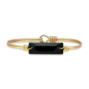 Hudson Bangle Bracelet In Jet Brass 7.5