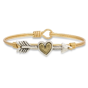 Follow Your Heart Bangle Bracelet Brass 7.5