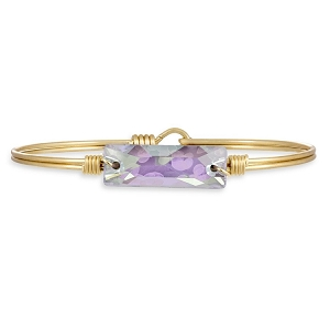 Hudson Brass Bangle Bracelet in Ultra Violet AB 7.0
