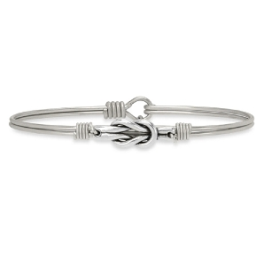 Love Knot Bangle Bracelet Silver 7.5